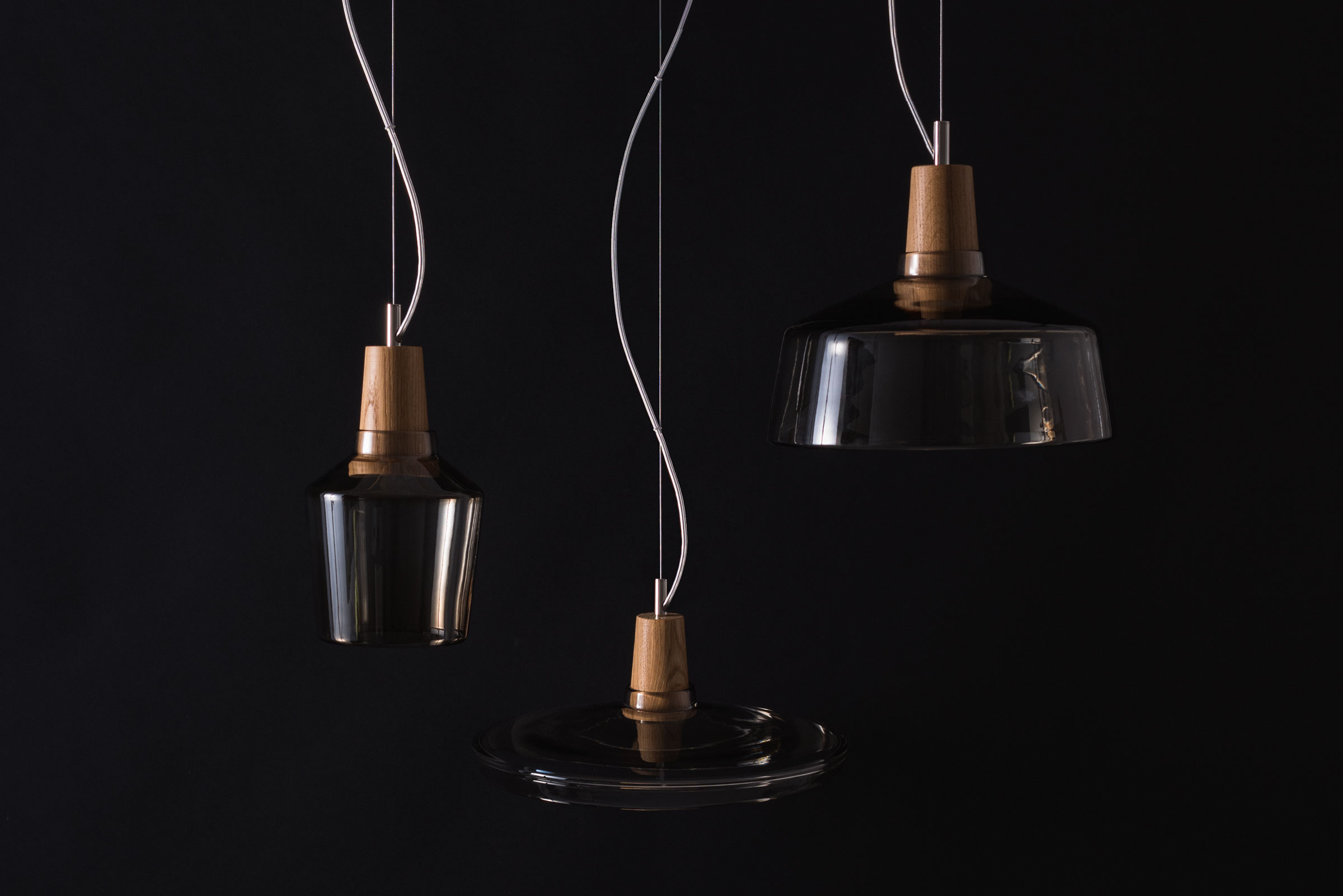 INDUSTRIAL Is A Family Of 3 Lamps Inspired By The Shapes Of Old Traditional Industrial  Lamps. The Lamp Shades Are Hand Blown Crystal Clear Glass. The Shades ...